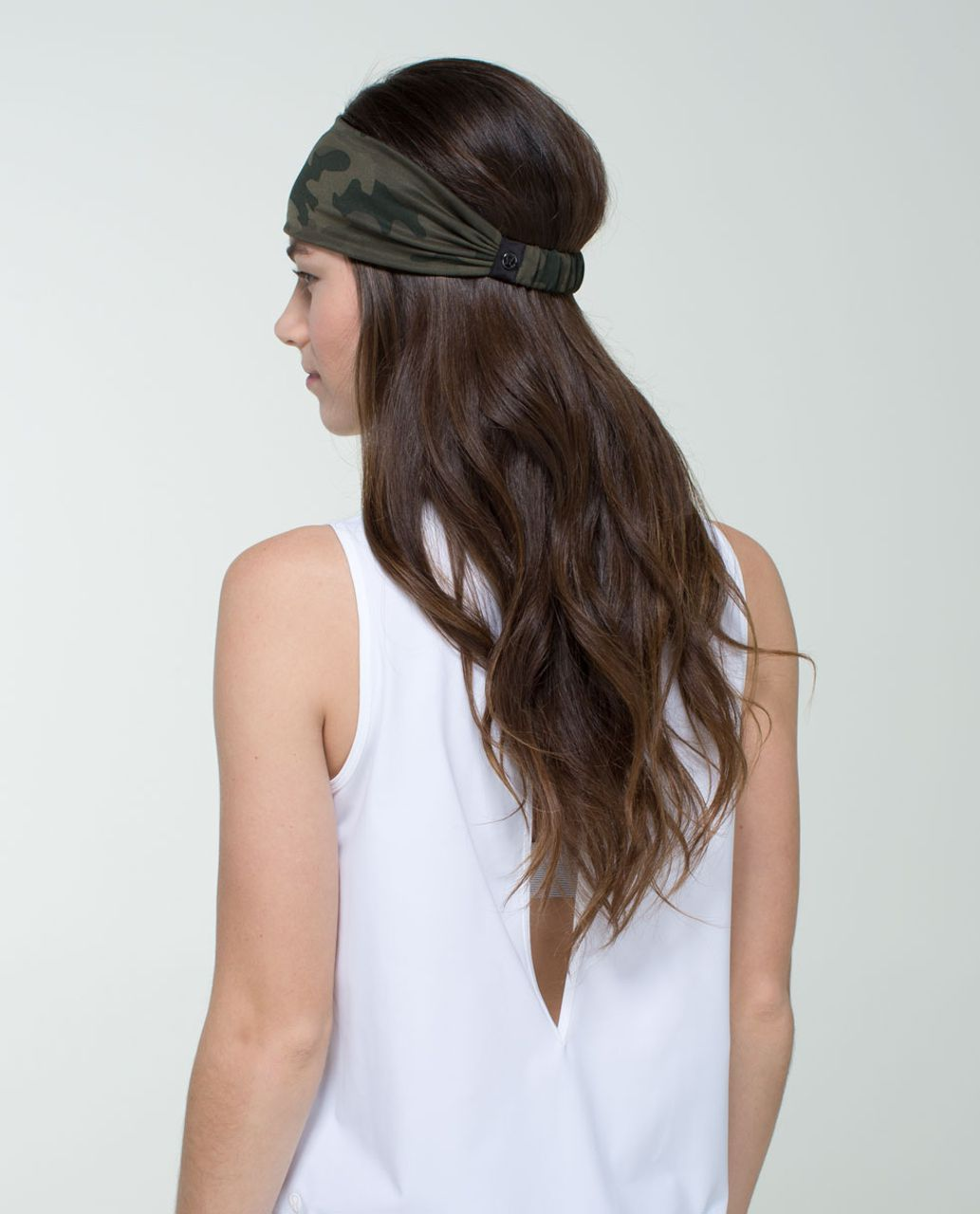 Lululemon Bang Buster Headband *Reversible - Savasana Camo 20cm Fatigue Green / Black