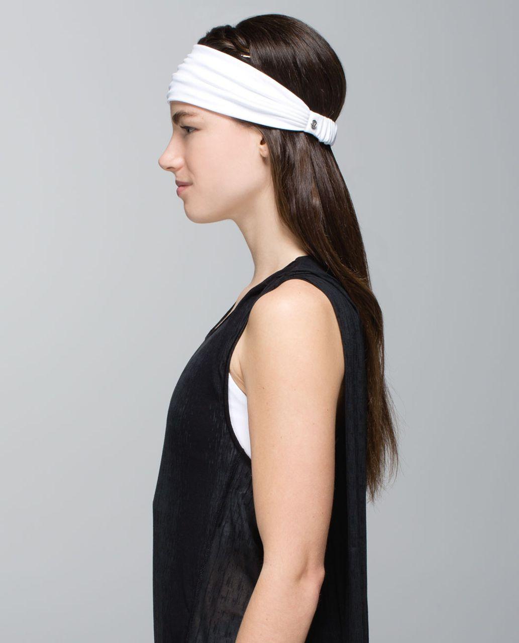 Lululemon Bang Buster Headband *Reversible - White