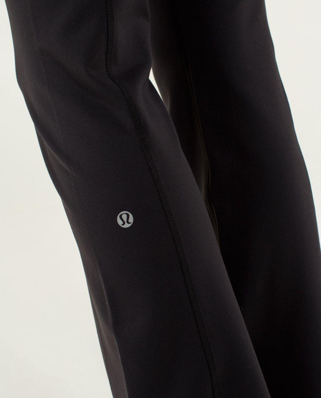 Lululemon Groove Pant (Tall) *Full-On Luon - Black / Quilt Spring 14-07