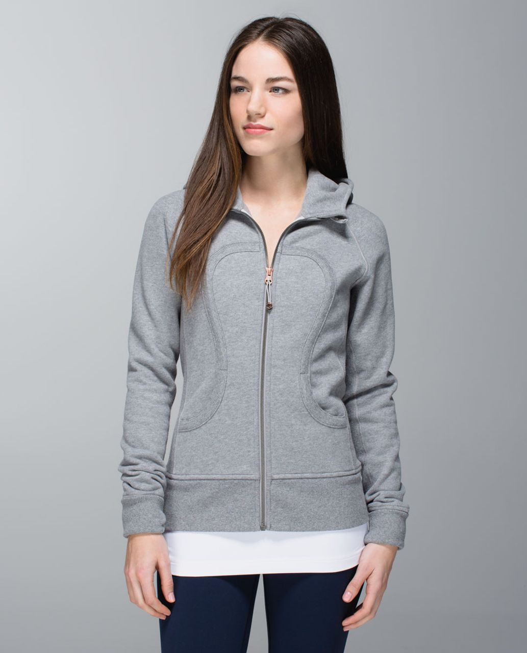 Lululemon Scuba Hoodie II - Heathered Medium Grey / Ambient Grey