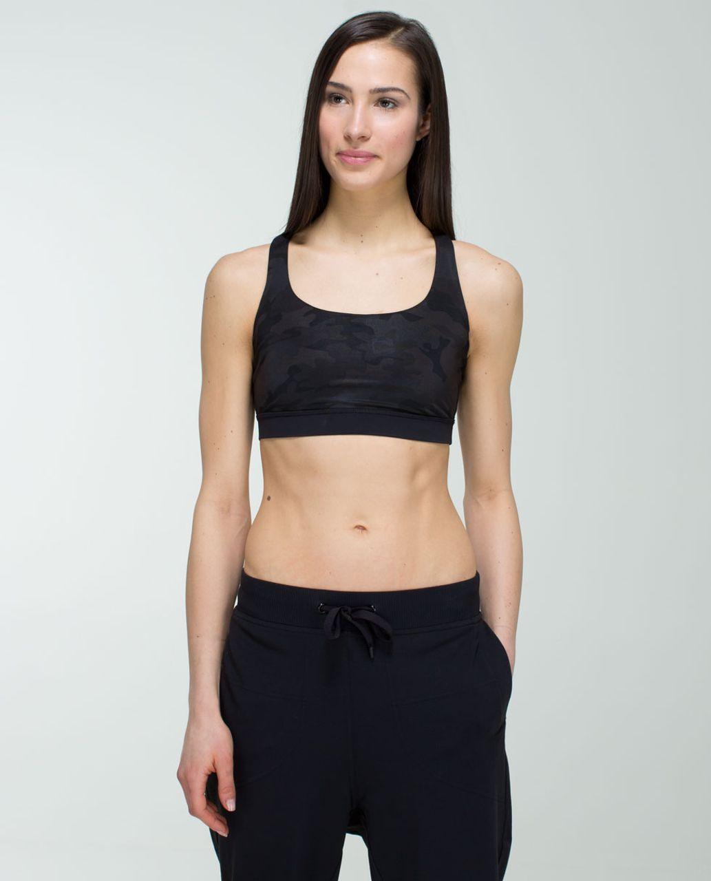 Lululemon Energy Bra - Savasana Camo 20cm New Black / Black