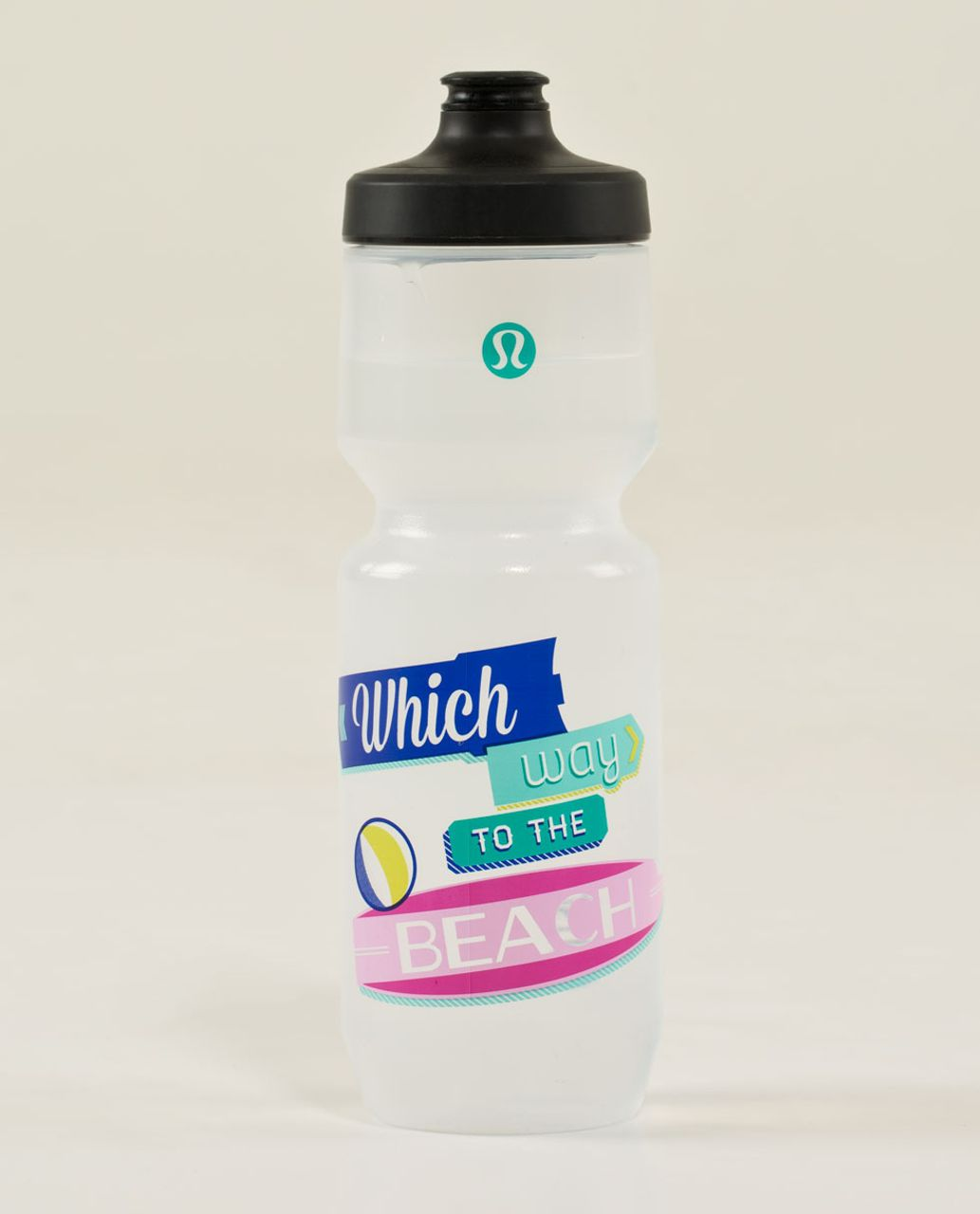 Lululemon Purist Cycling Water Bottle II - Which Way To The Beach Lakeside Blue