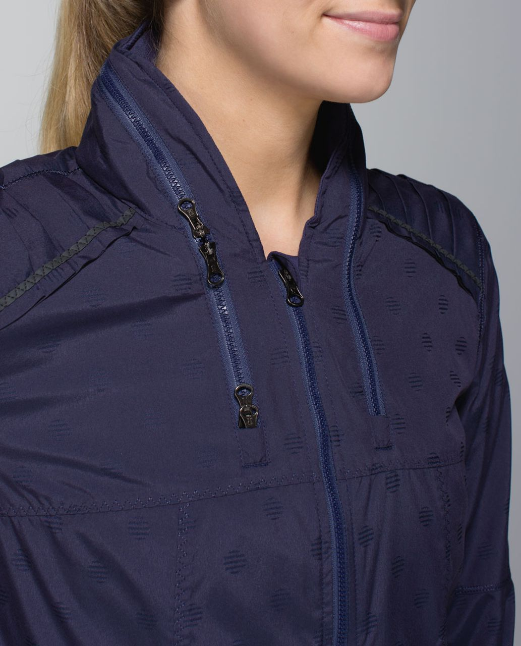 Lululemon Spring Forward Jacket - Stripe Dot Cadet Blue