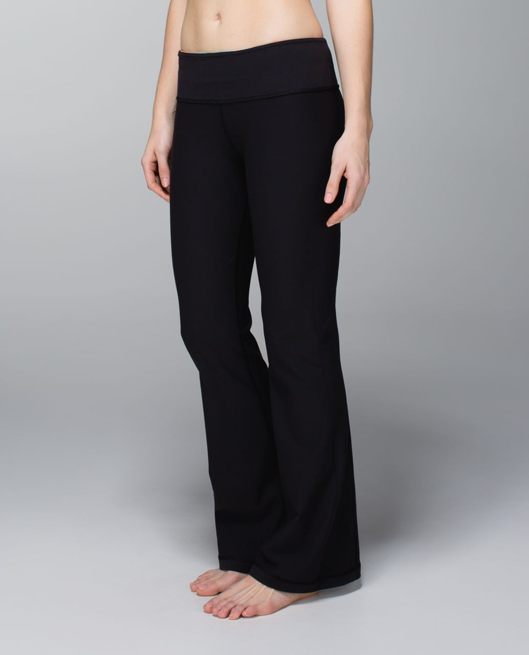 Lululemon Groove Pant (Regular) *Full-On Luon - Black / Quilt Spring 14-10
