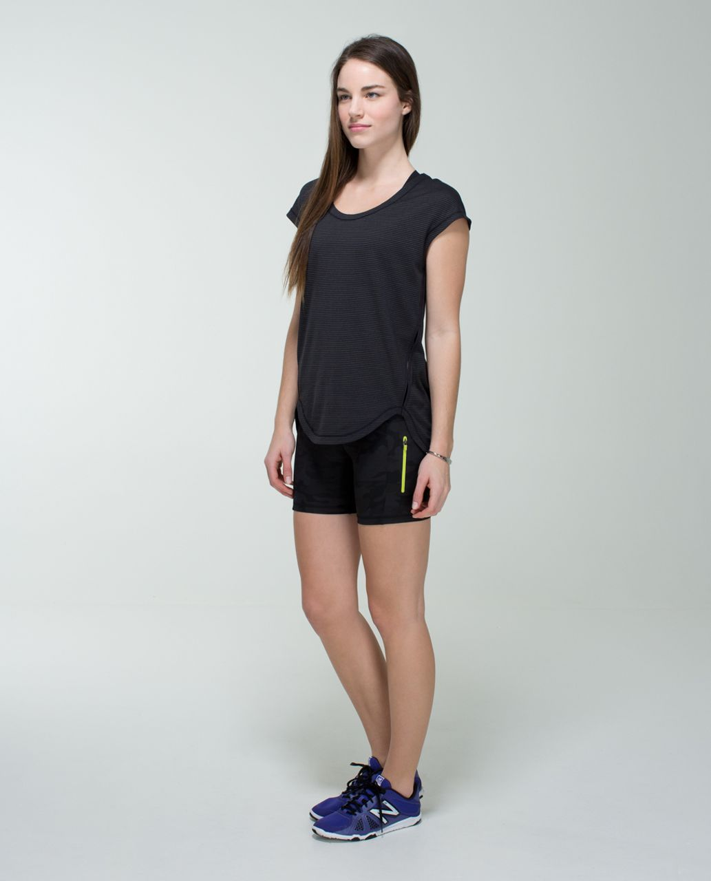 Lululemon Run:  Fast Track Short II - Savasana Camo 20cm New Black / Black