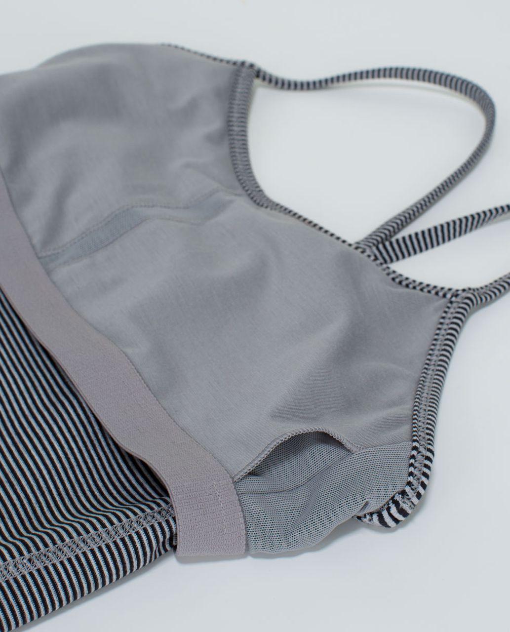 Lululemon Power Y Tank *Luon - Tonka Stripe Black Heathered Medium Grey
