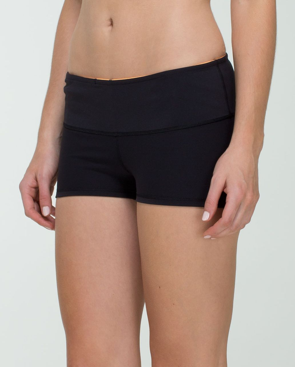 Lululemon Boogie Short *Full-On Luon - Black / Quilt Spring 14-11