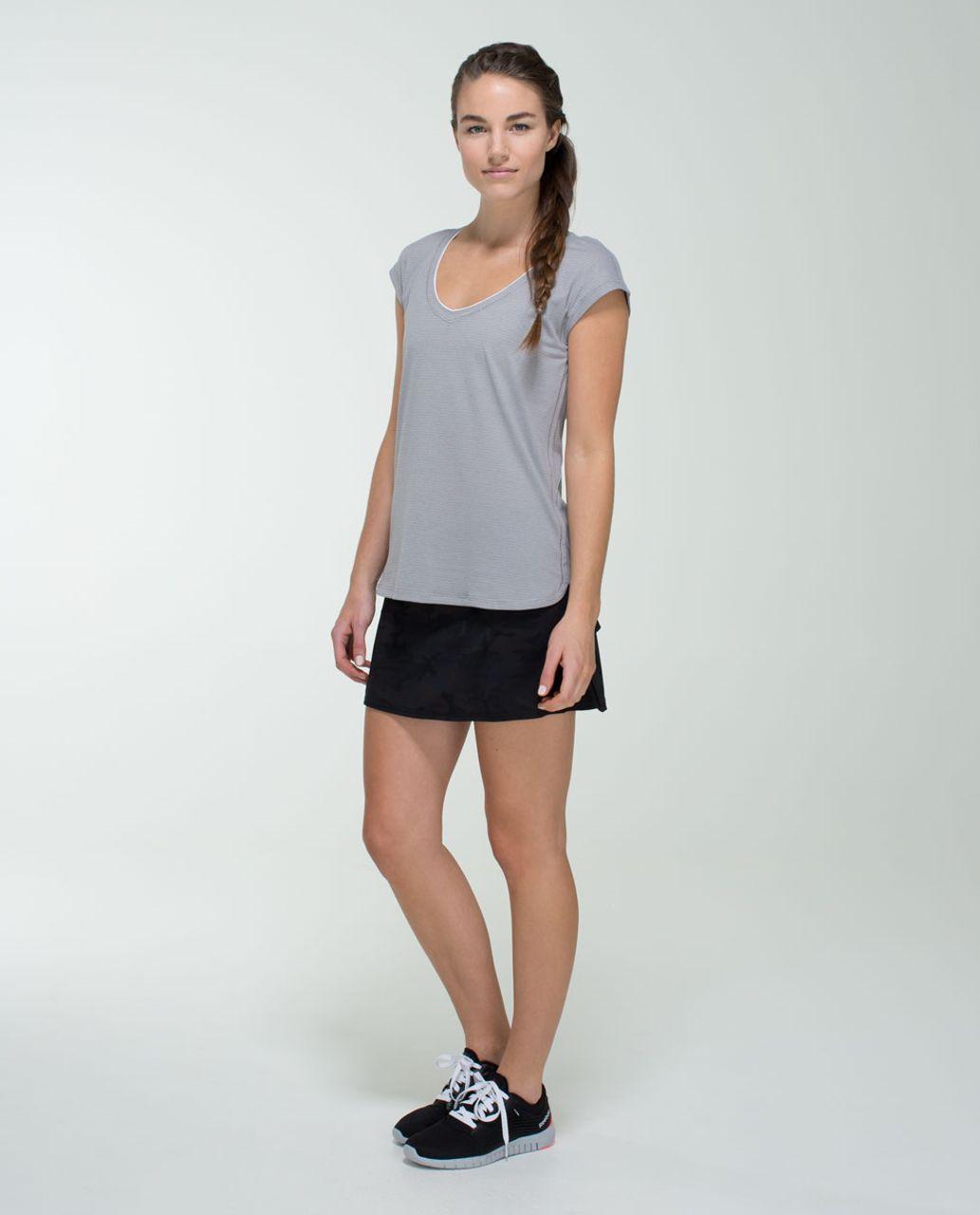 Lululemon Run:  Pace Setter Skirt (Regular) *4-way Stretch - Savasana Camo 20cm New Black / Black