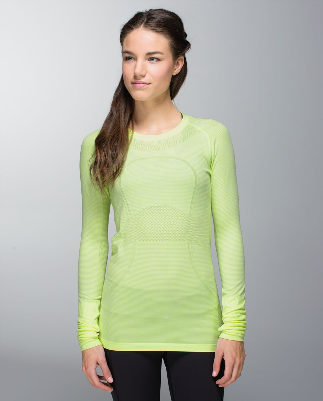 Lululemon Run:  Swiftly Tech Long Sleeve - Heathered Clear Mint