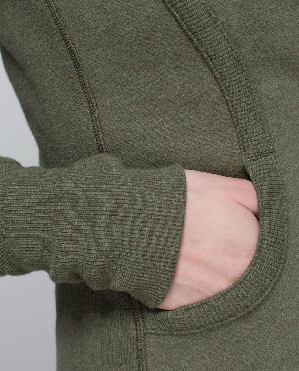 Lululemon Scuba Hoodie II - Heathered Fatigue Green / Fatigue Green