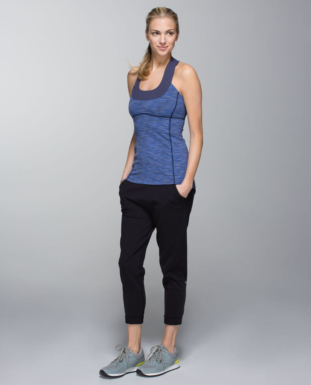 Lululemon Scoop Neck Tank *Luon - Wee Are From Space Cadet Blue / Cadet Blue