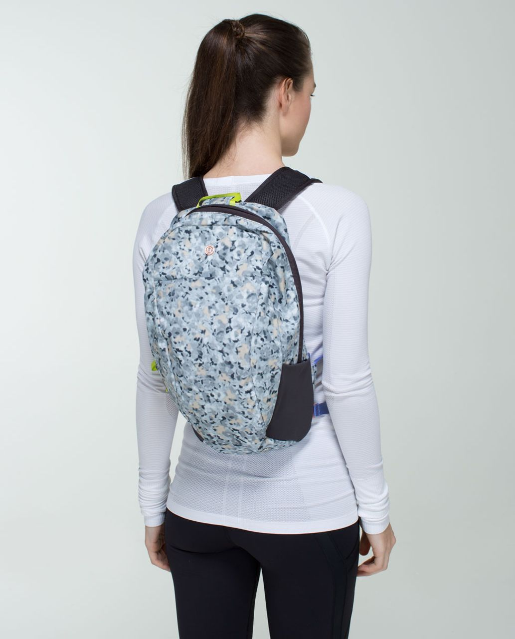Lululemon Run From Work Backpack - Not So Petite Fleur Silver Spoon