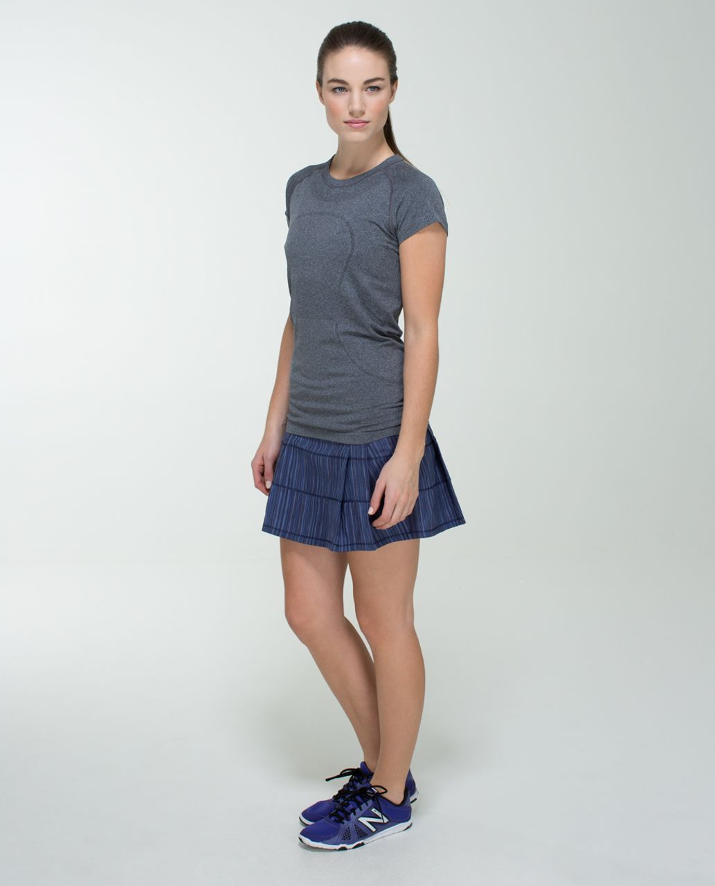 Lululemon Pace Rival Skirt (Tall) *2-way Stretch - Wee Are From Space Cadet Blue / Cadet Blue