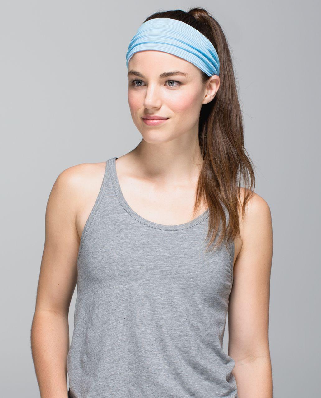 Lululemon Bang Buster Headband *Reversible - Tonka Stripe Angel Blue Lullaby / White