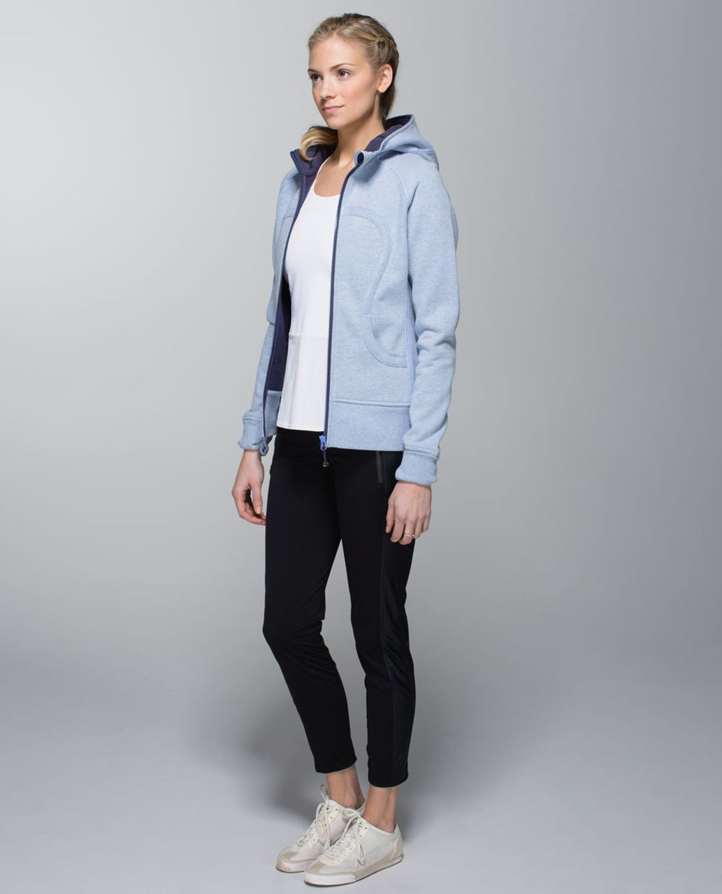 Lululemon Scuba Hoodie II - Heathered Lullaby / Cadet Blue