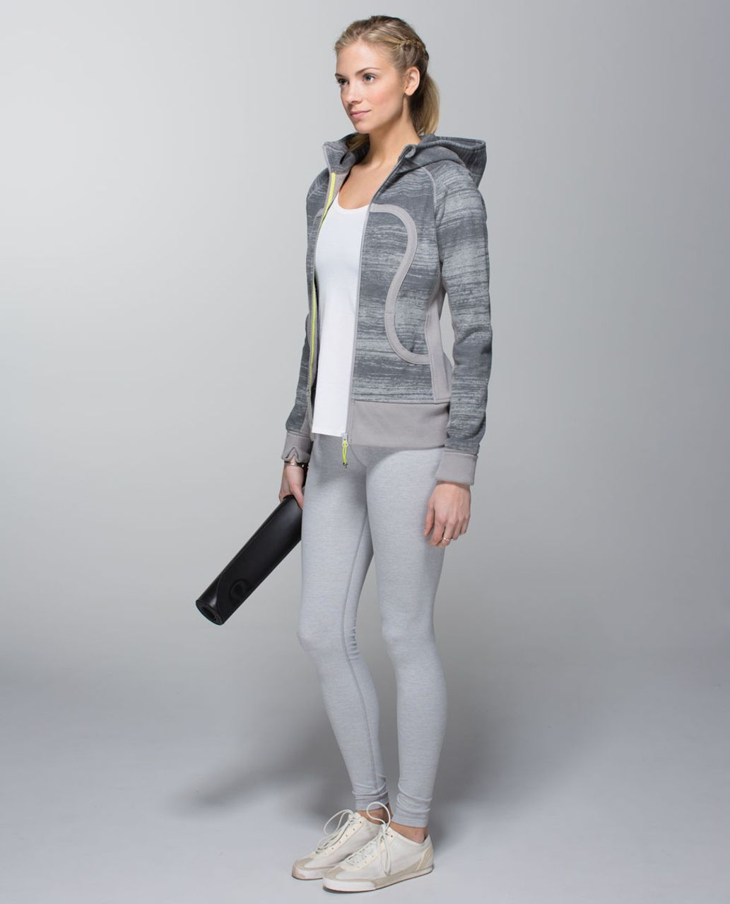 Lululemon Scuba Hoodie II - Righteous Stripe Heathered Medium Grey / Ambient Grey