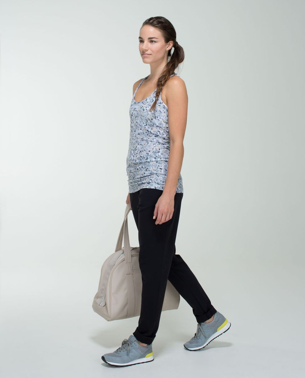 Lululemon Cool Racerback - Not So Petite Fleur Silver Spoon