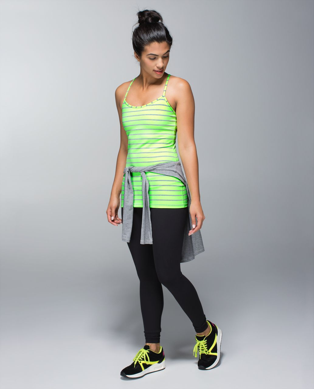 Lululemon Power Y Tank *Luon - Deauville Stripe Clear Mint