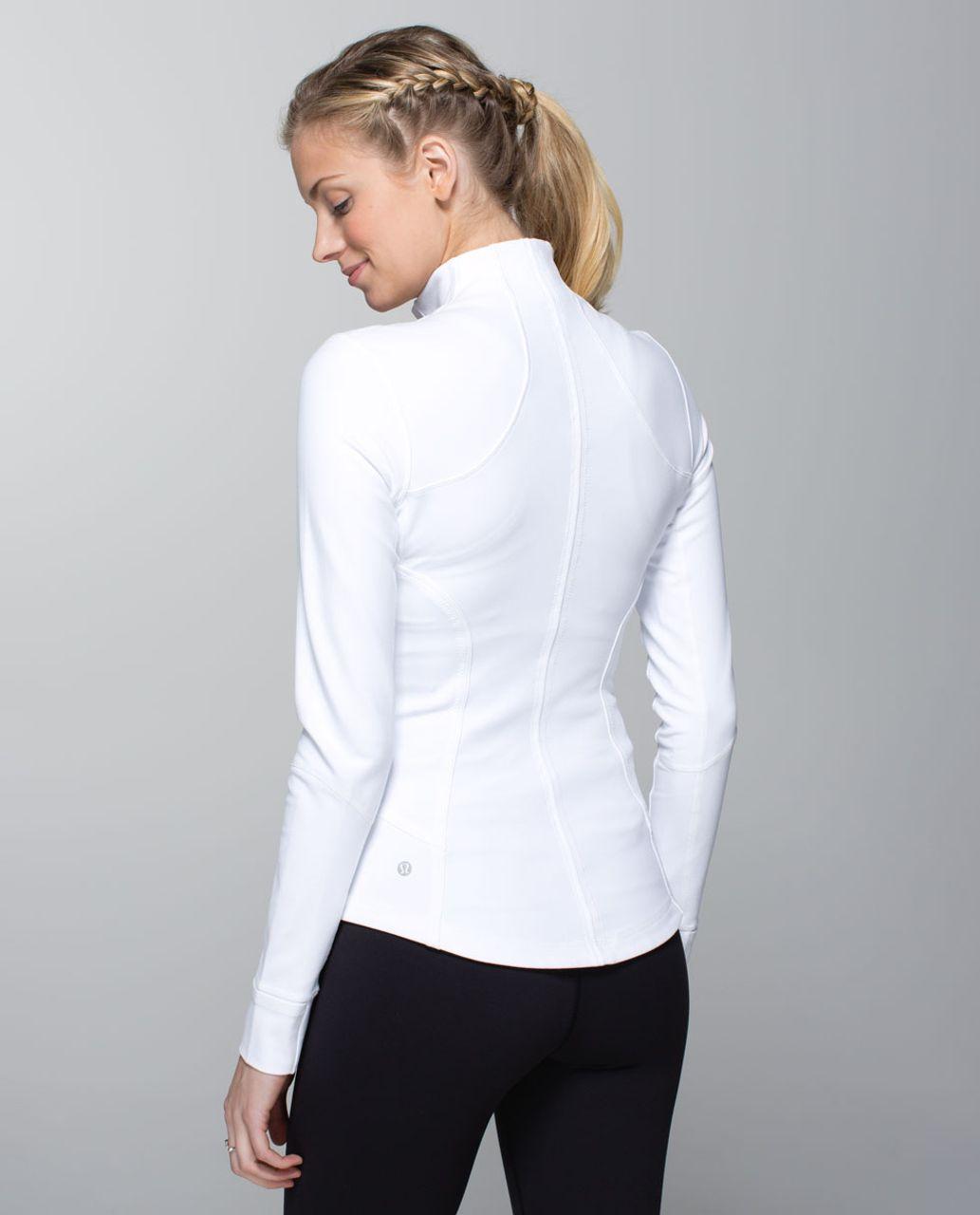 Lululemon Forme Jacket *Cuffins - White