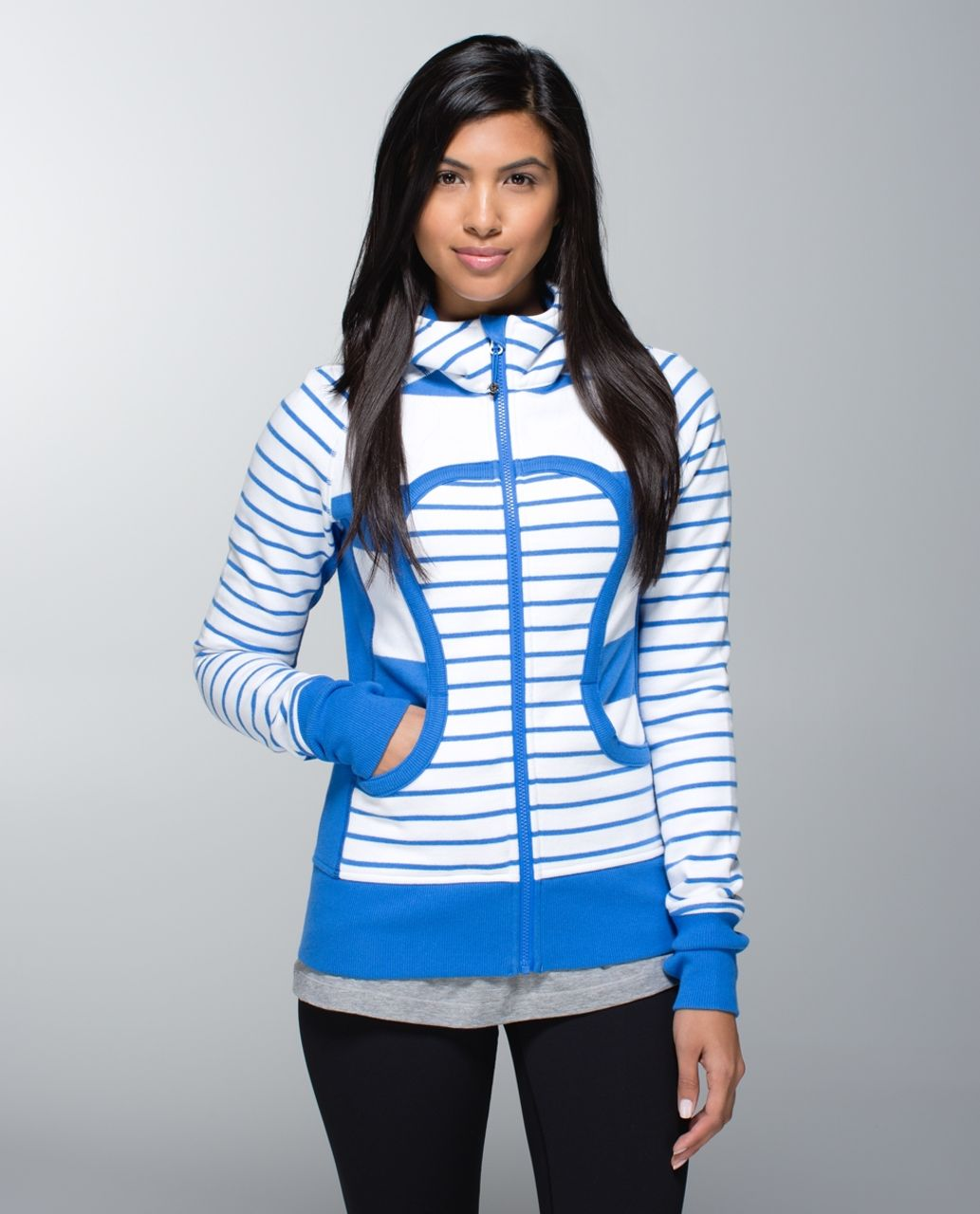 Lululemon Scuba Hoodie II - Stroll Stripe Pipe Dream Blue White / Deauville Stripe Pipe Dream Blue White / Pigment Blue
