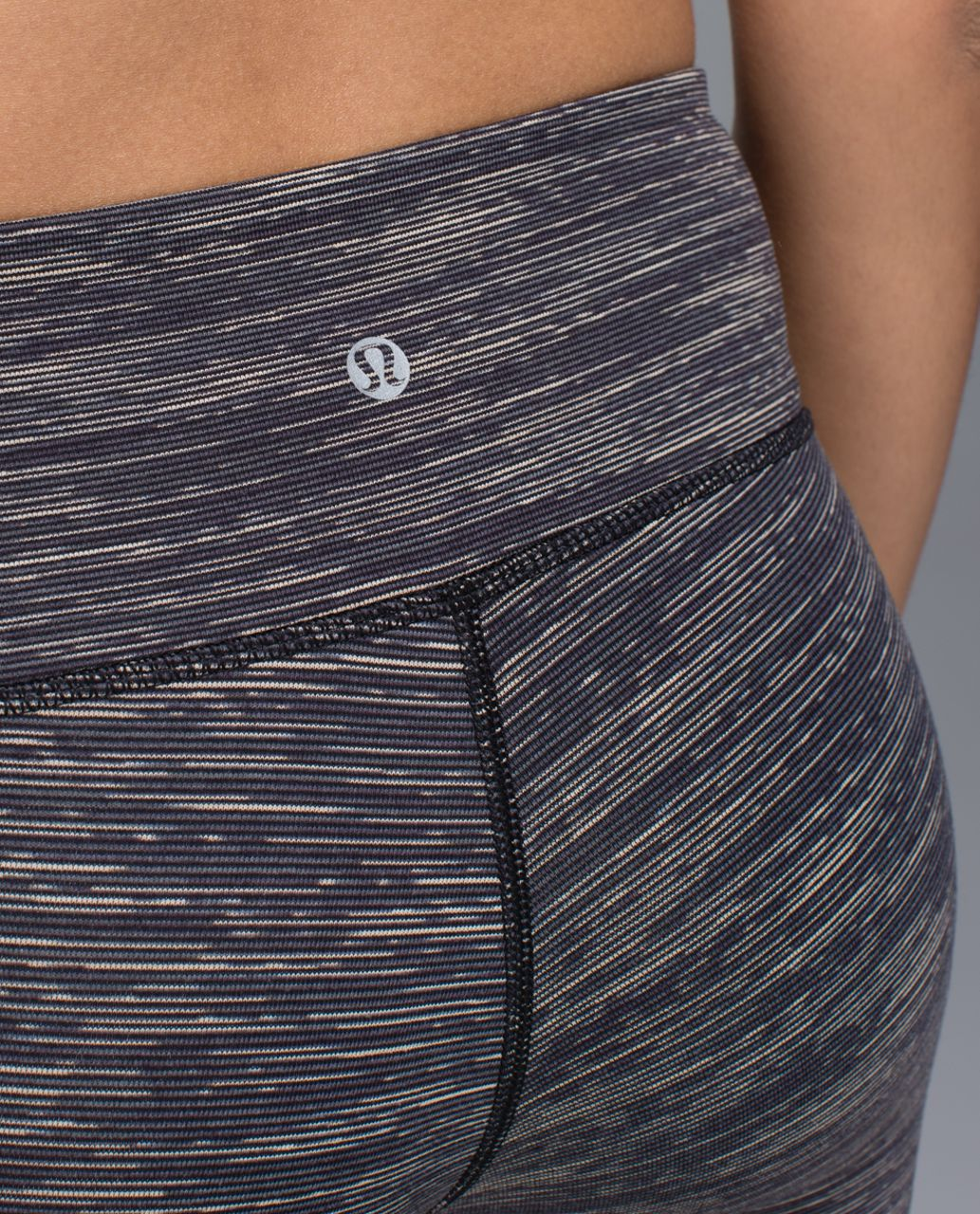 Lululemon Wunder Under Crop - Wee Are From Space Black Cashew / Black
