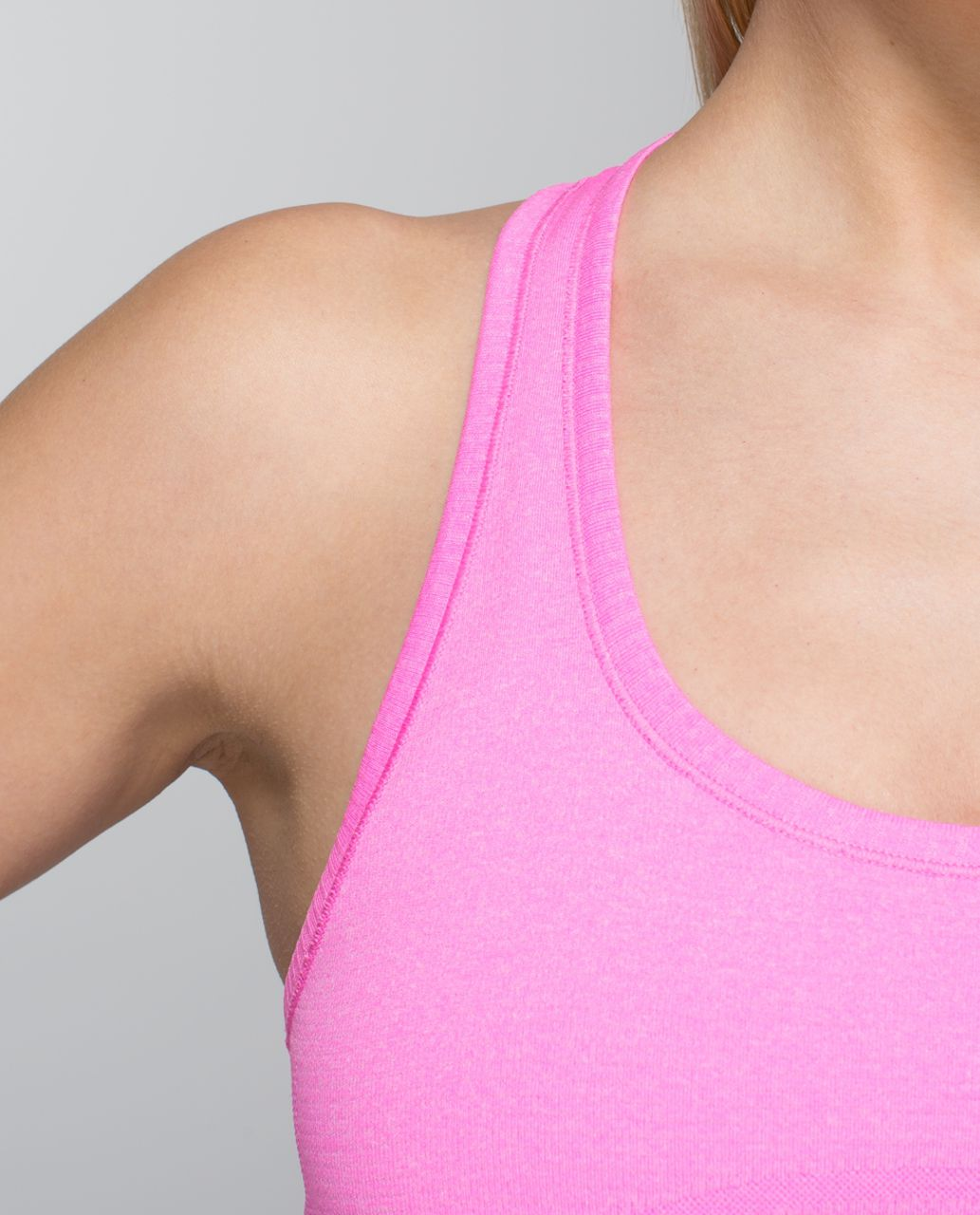 Lululemon Run:  Swiftly Tech Racerback - Heathered Pow Pink Light