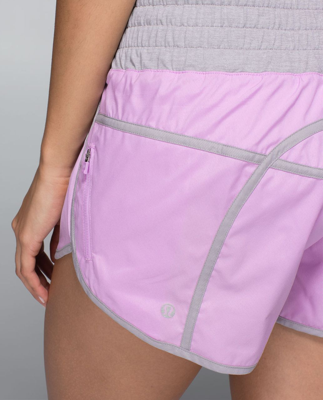 Lululemon Tracker Short II *2-way Stretch - Pretty Purple / Ambient Grey / Heathered Medium Grey