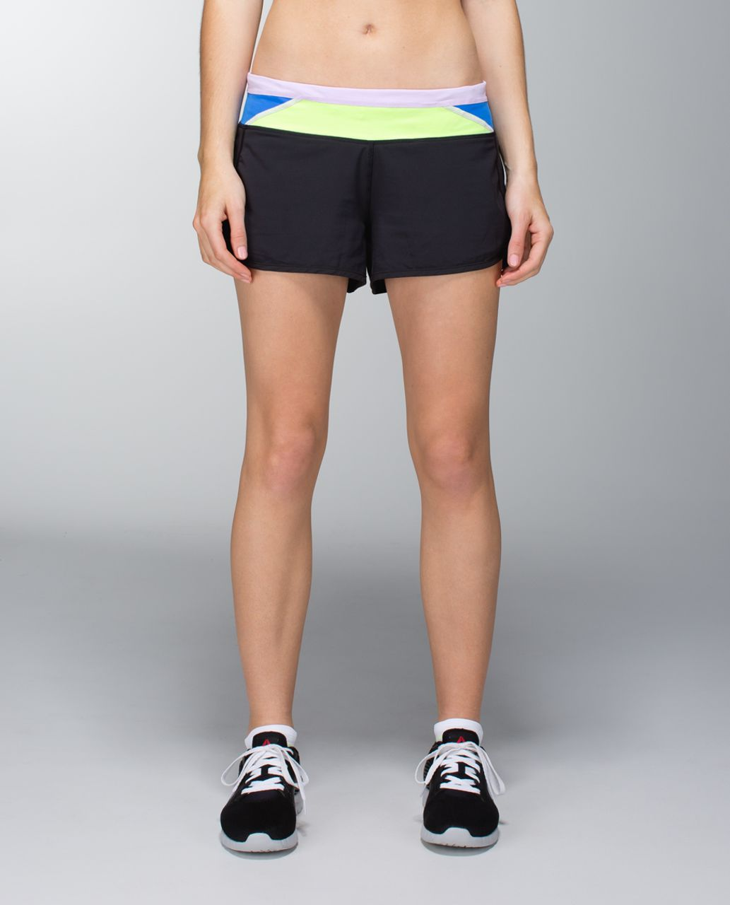 Lululemon Run:  Speed Short *4-way Stretch - Black / Quilt Spring 14-23