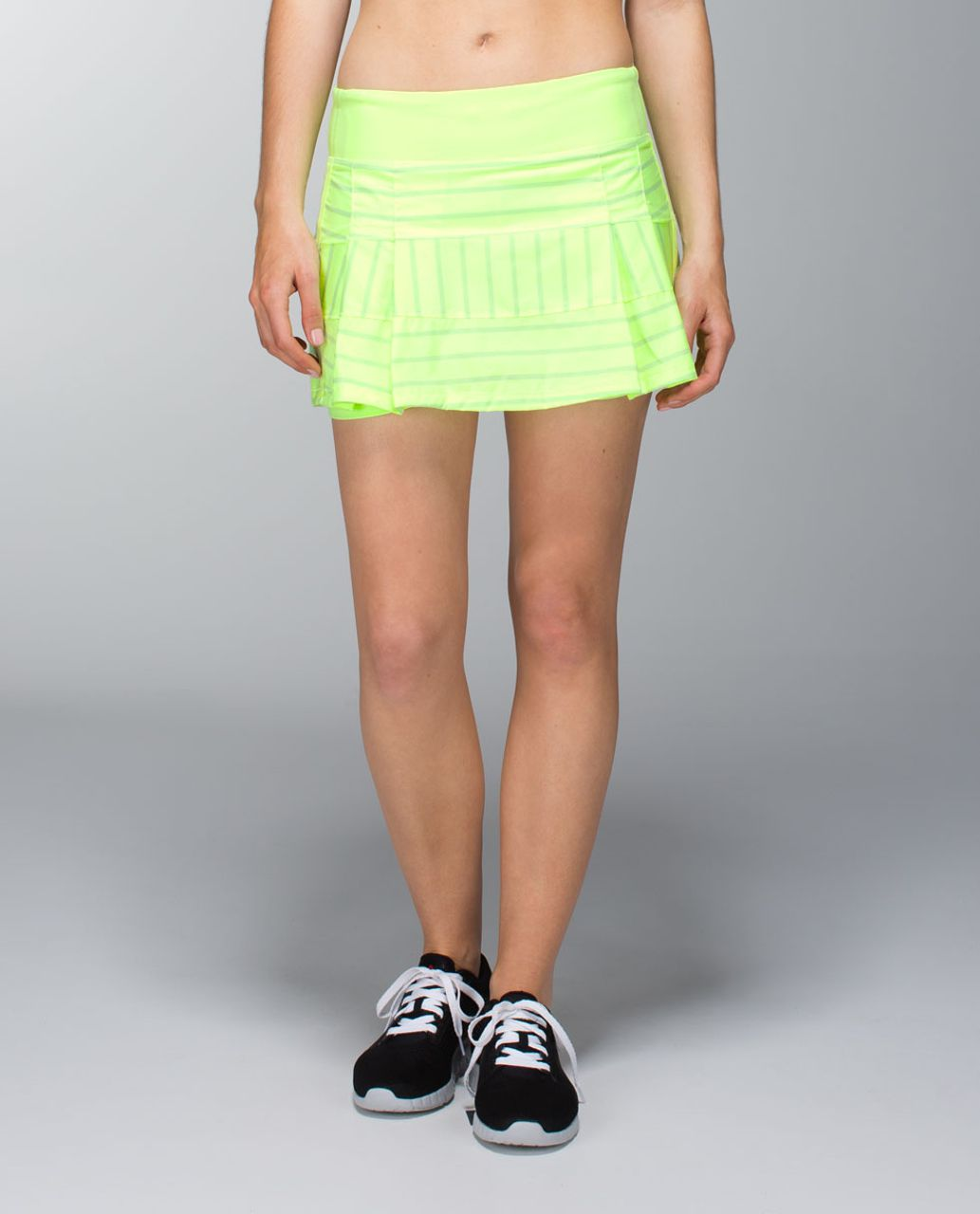 Lululemon Pace Rival Skirt (Regular) *2-way Stretch - Deauville Stripe Clear Mint Solid / Clear Mint
