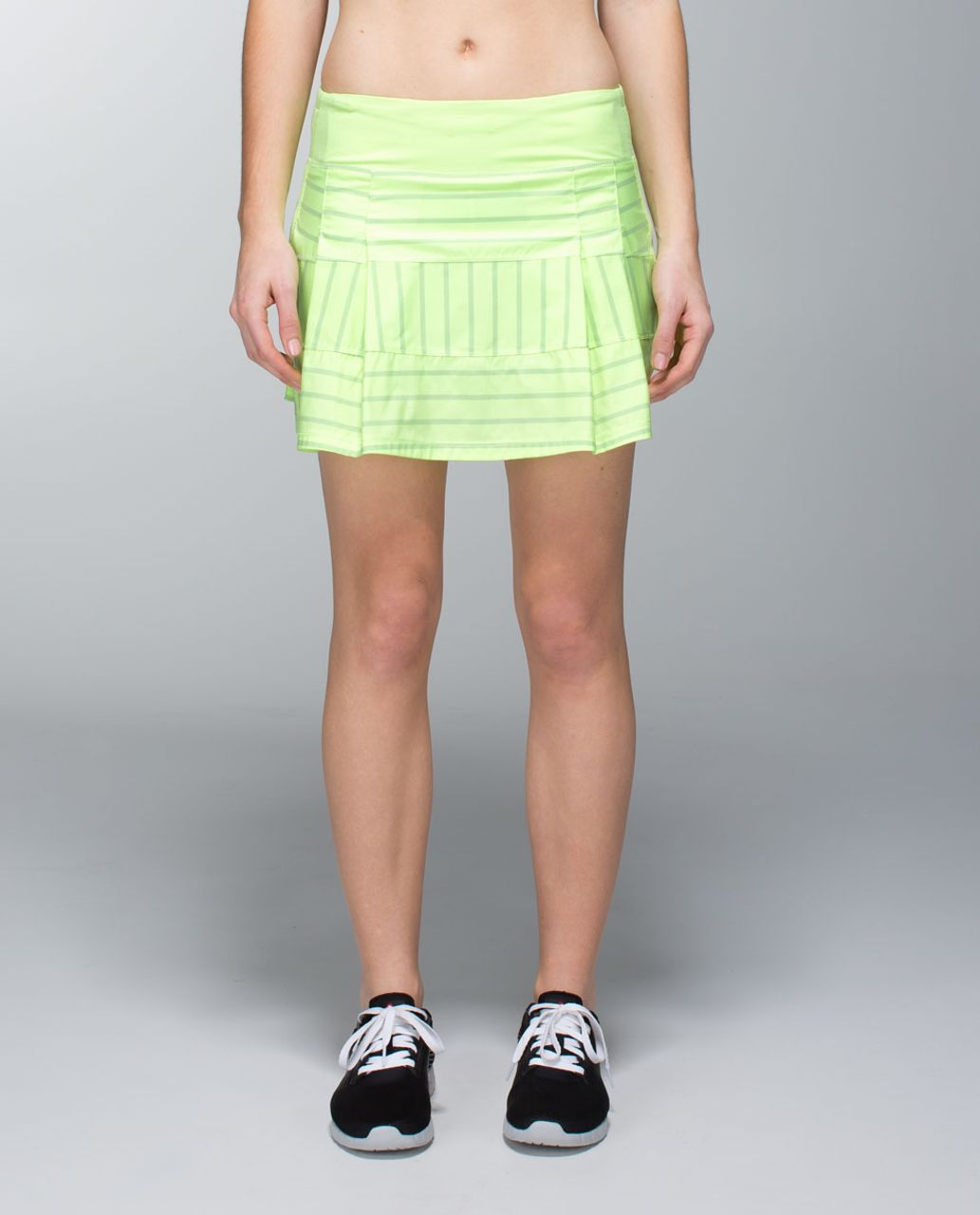Lululemon Pace Rival Skirt (Tall) *2-way Stretch - Deauville Stripe Clear Mint Solid / Clear Mint