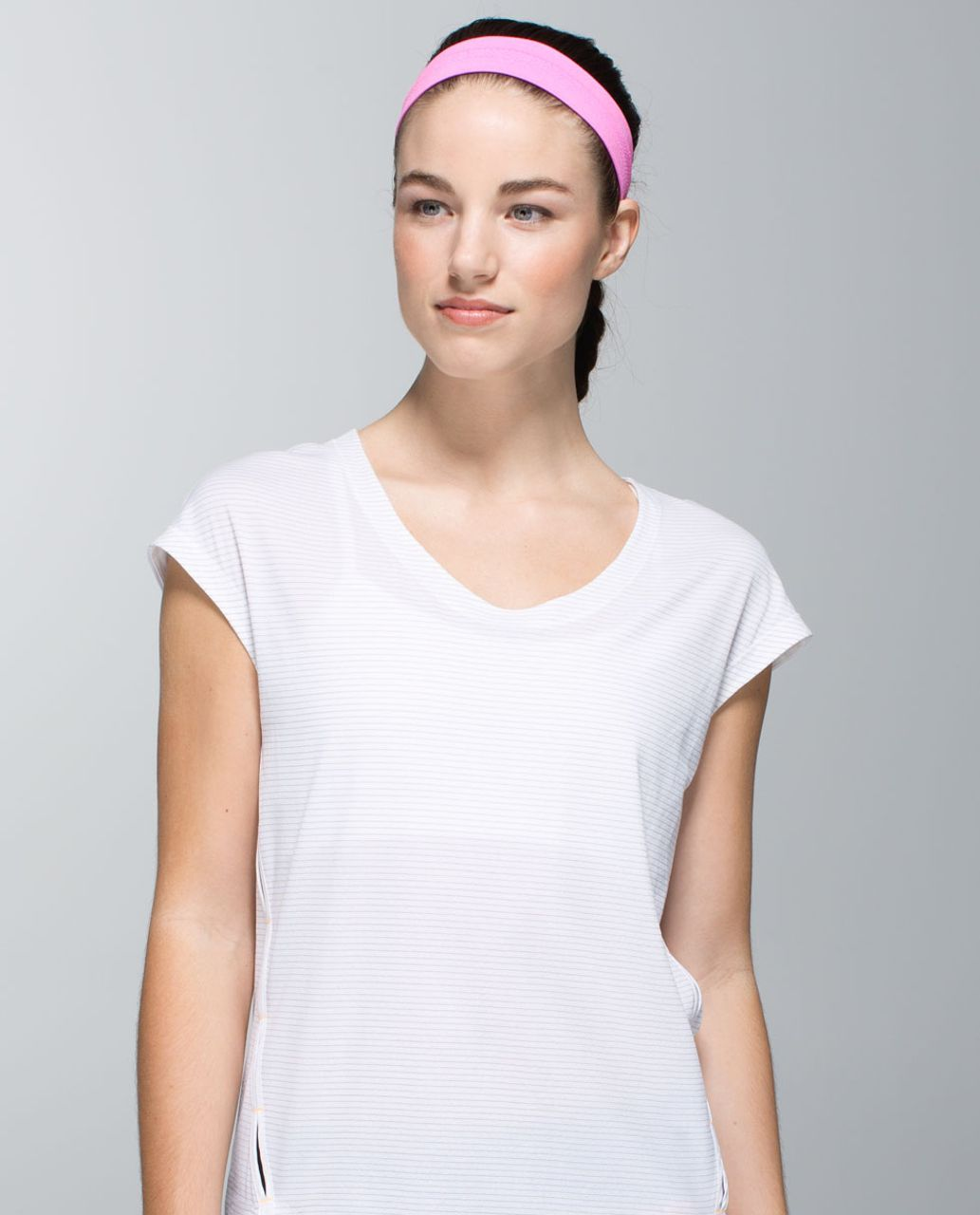 Lululemon Swiftly Headband - Heathered Pow Pink Light