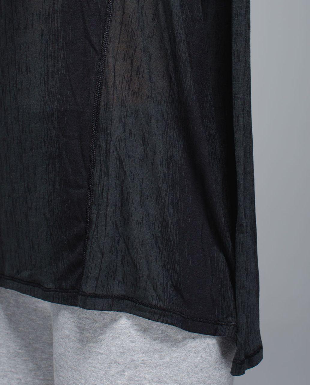Lululemon Salutation To Savasana Tank - Misty Stripe Burnout Black