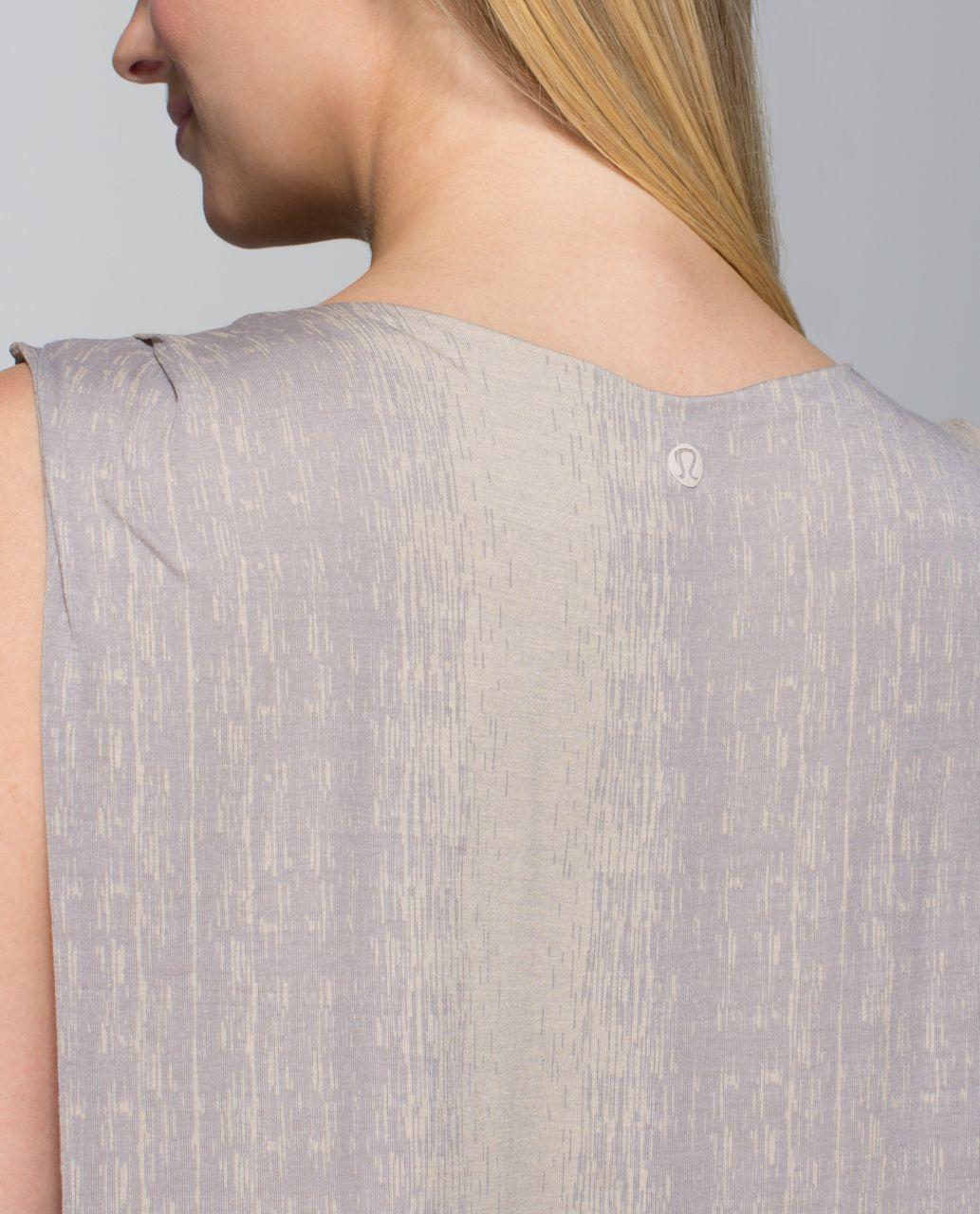 Lululemon Salutation To Savasana Tank - Misty Stripe Burnout Cashew Ambient Grey