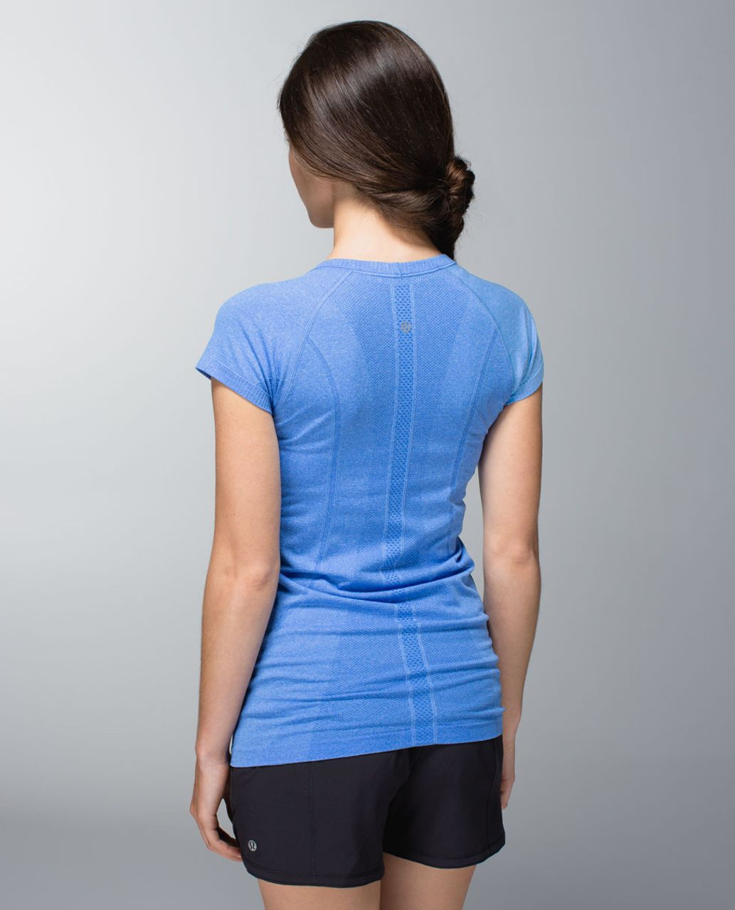 Lululemon Run:  Swiftly Tech Short Sleeve Scoop - Heathered Pipe Dream Blue