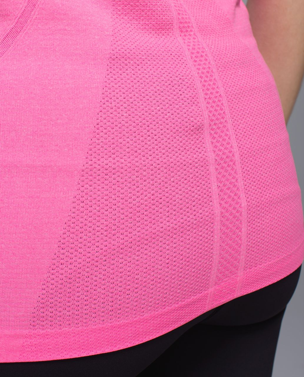 Lululemon Run:  Swiftly Tech Short Sleeve Scoop - Heathered Pow Pink Light