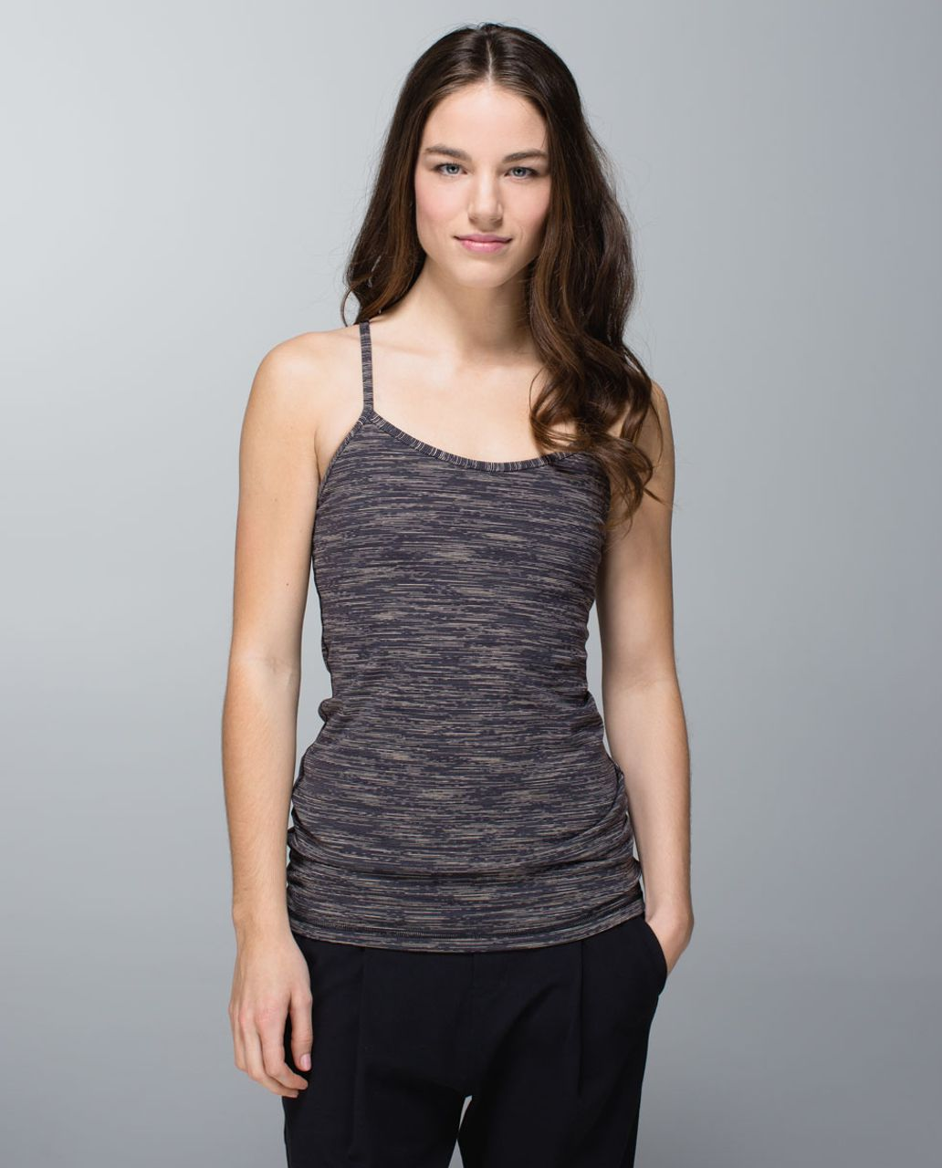 Lululemon Power Y Tank *Luon - Wee Are From Space Black Cashew