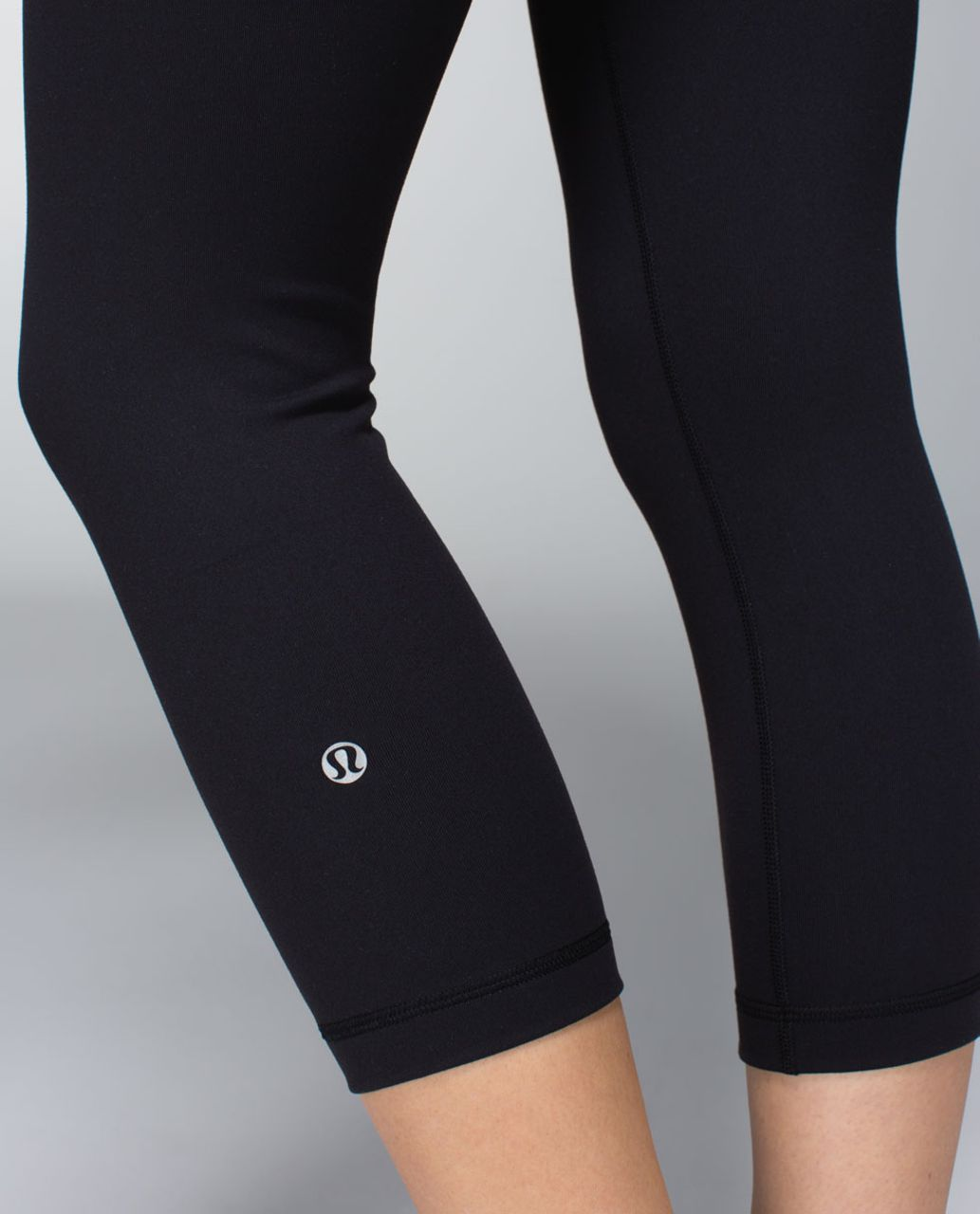 Lululemon Wunder Under Crop *Full-On Luon - Black / Quilt Spring 14-21