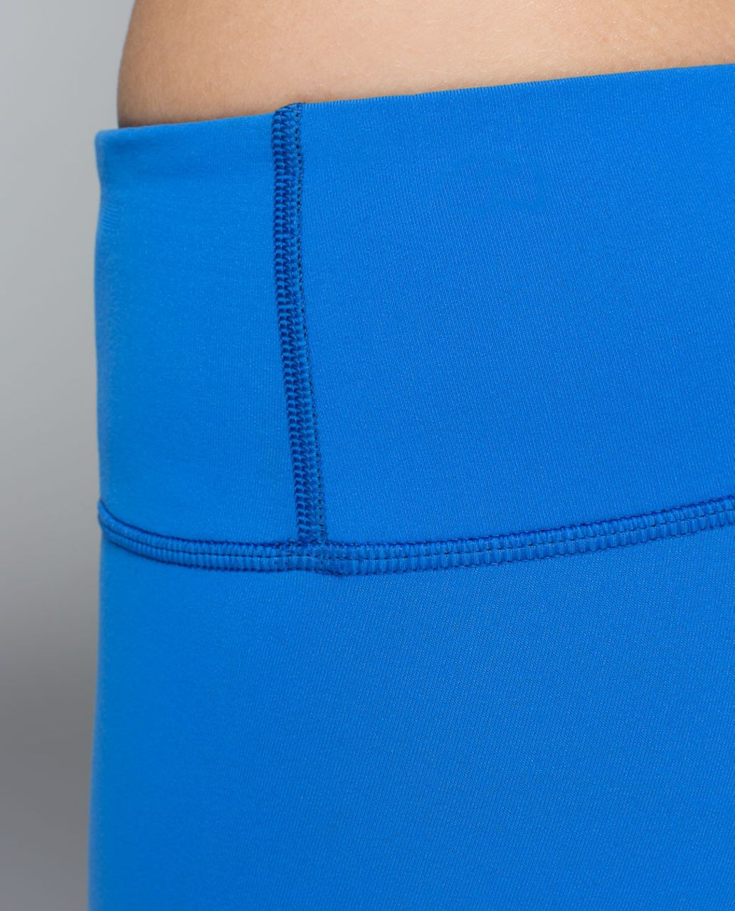 Lululemon Wunder Under Crop (Reversible) - Black / Pipe Dream Blue