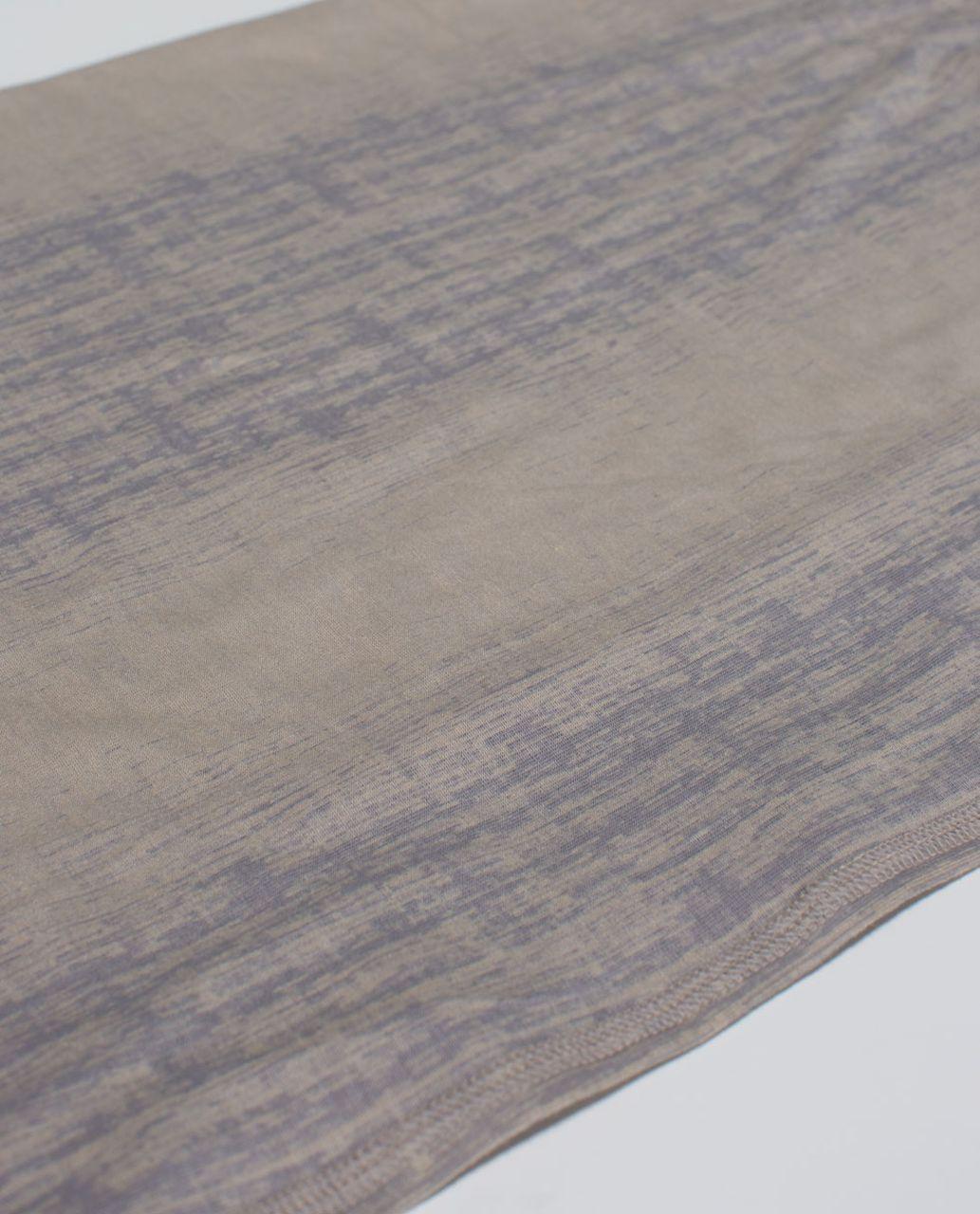 Lululemon Twist & Shout Scarf - Misty Stripe Burnout Cashew Ambient Grey