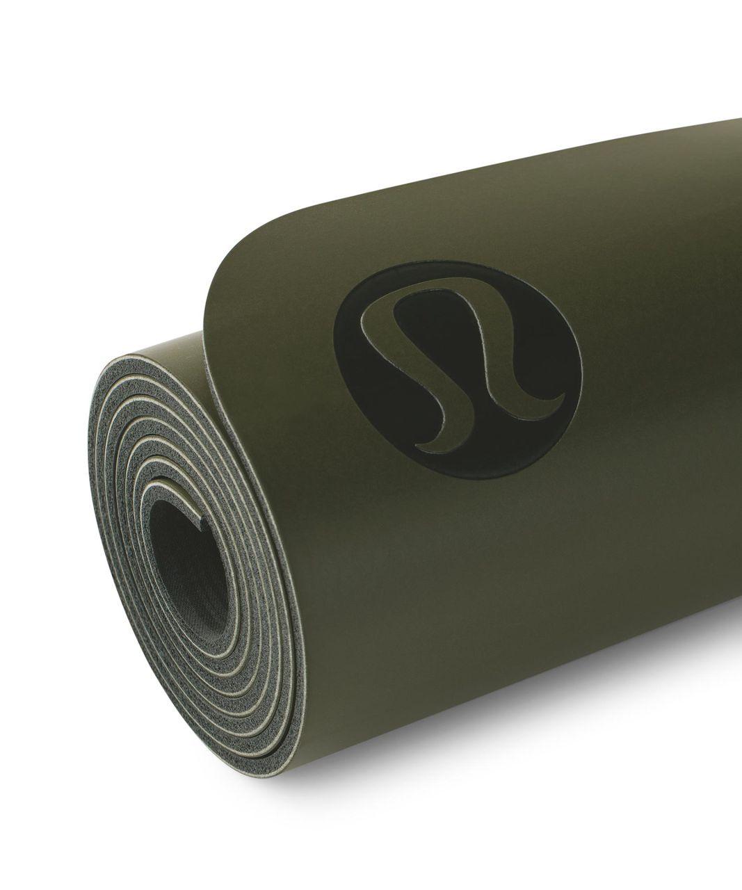 Lululemon The Mat - Fatigue Green / Deep Coal
