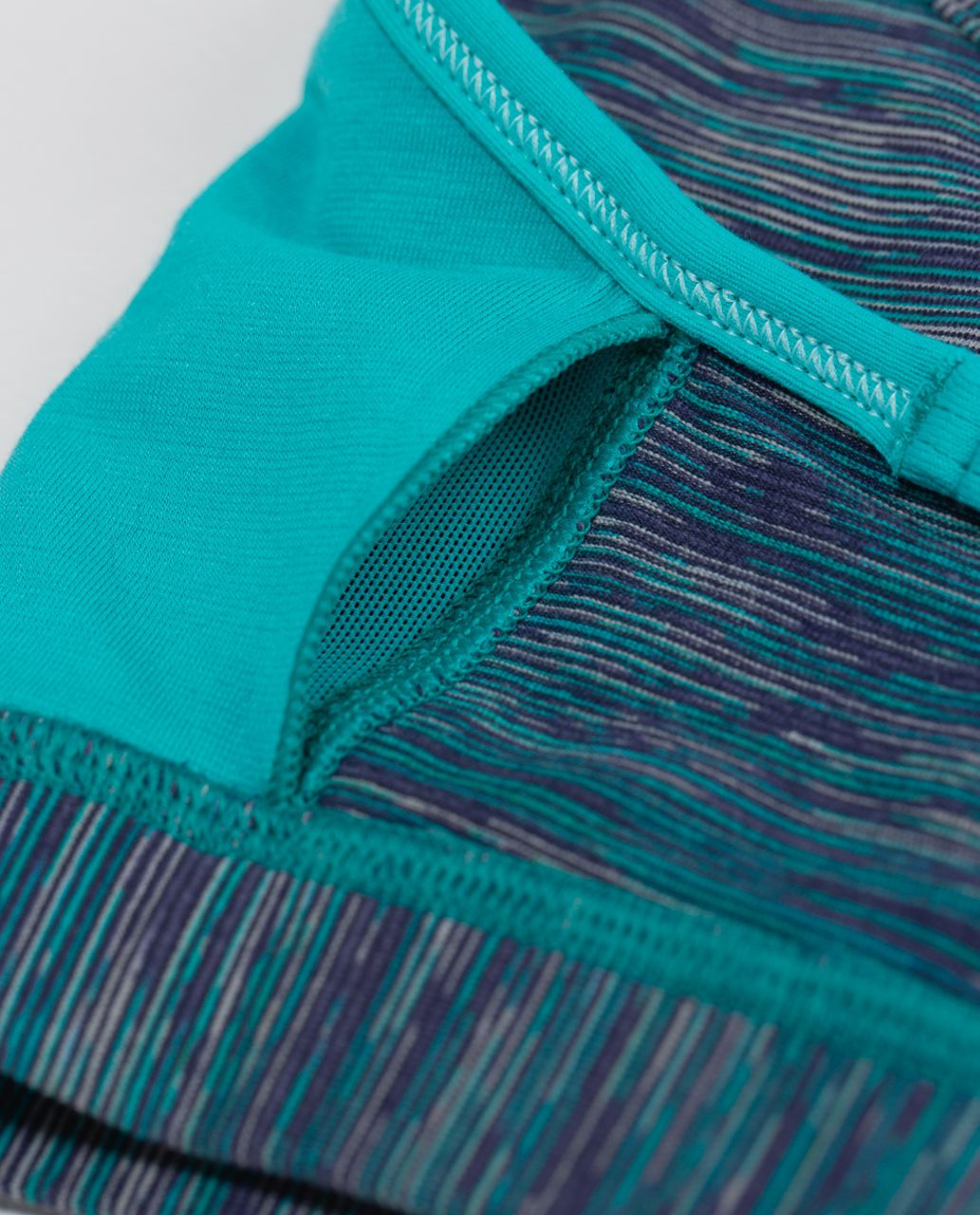 Lululemon Flow Y Bra IV - Blue Tropics / Wee Are From Space Blue Tropics