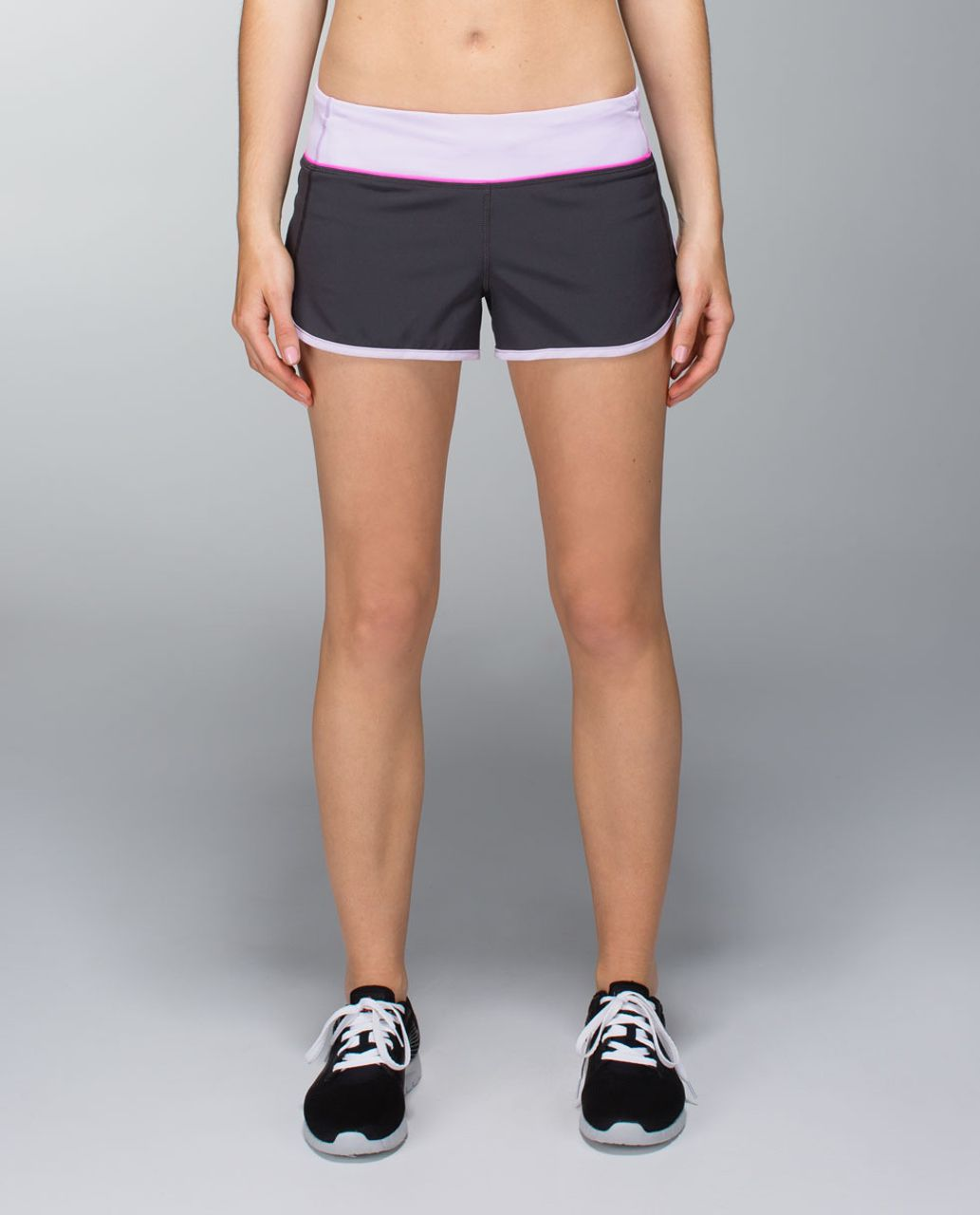 Lululemon Run:  Speed Short *4-way Stretch - Soot / Pretty Purple