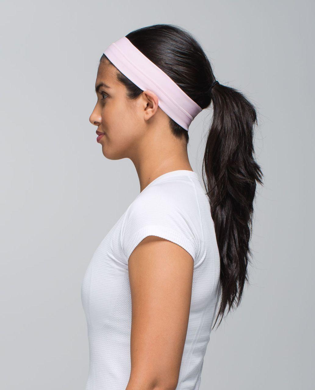 Lululemon Fly Away Tamer Headband - Barely Pink
