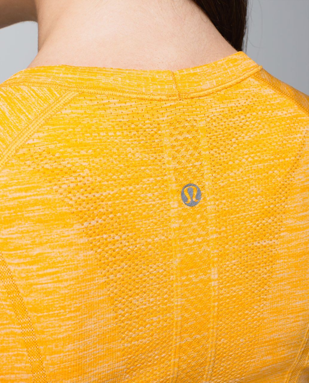 Lululemon Run:  Swiftly Tech Short Sleeve Scoop - Heathered Bananarama