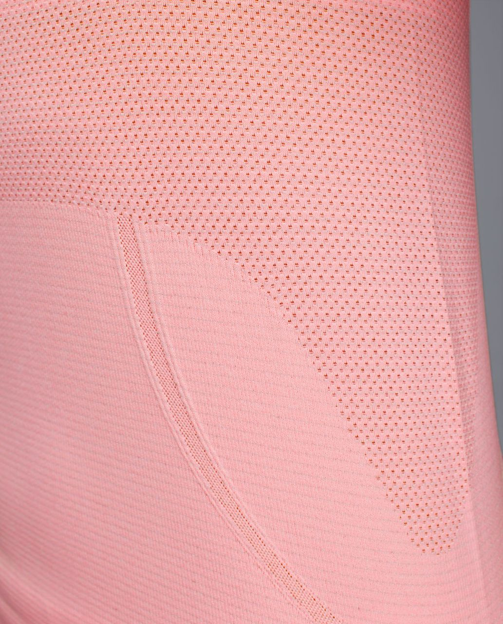 Lululemon Run:  Swiftly Tech Short Sleeve Scoop - Heathered Bleached Coral