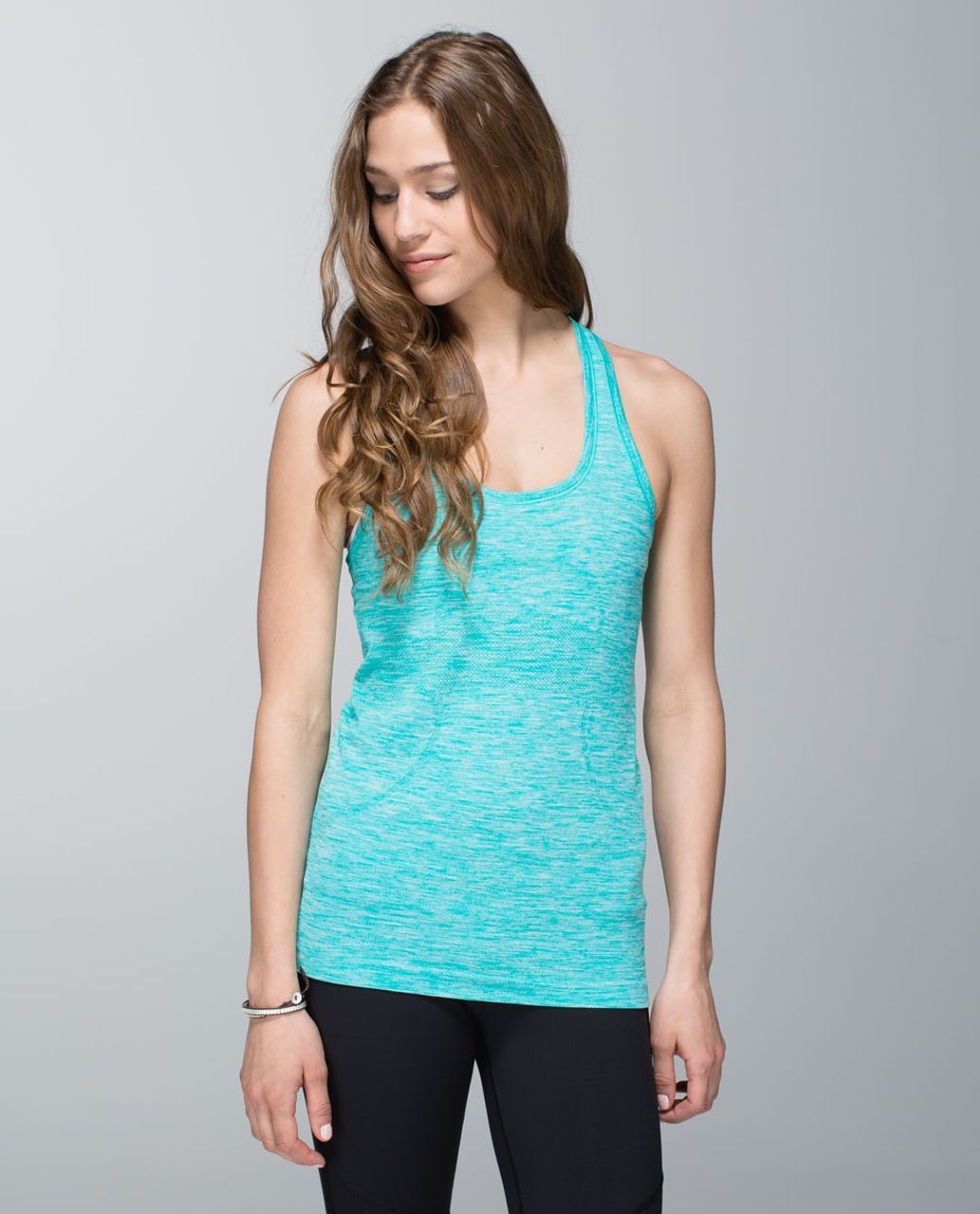 Lululemon Run:  Swiftly Tech Racerback - Heathered Blue Tropics (First Release)