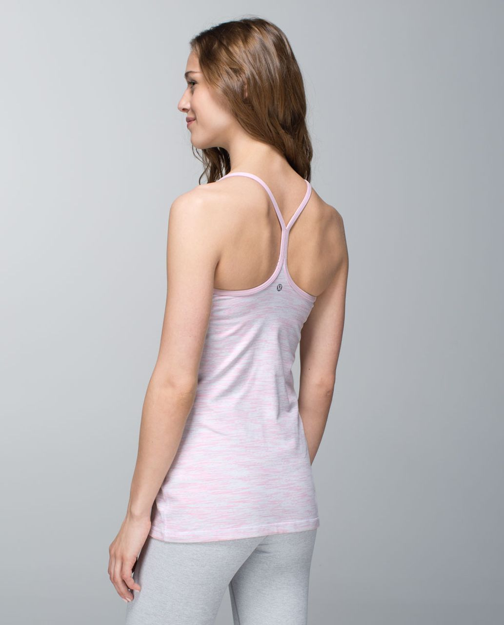 Lululemon Power Y Tank *Luon - Wee Are From Space White Barely Pink / Barely Pink