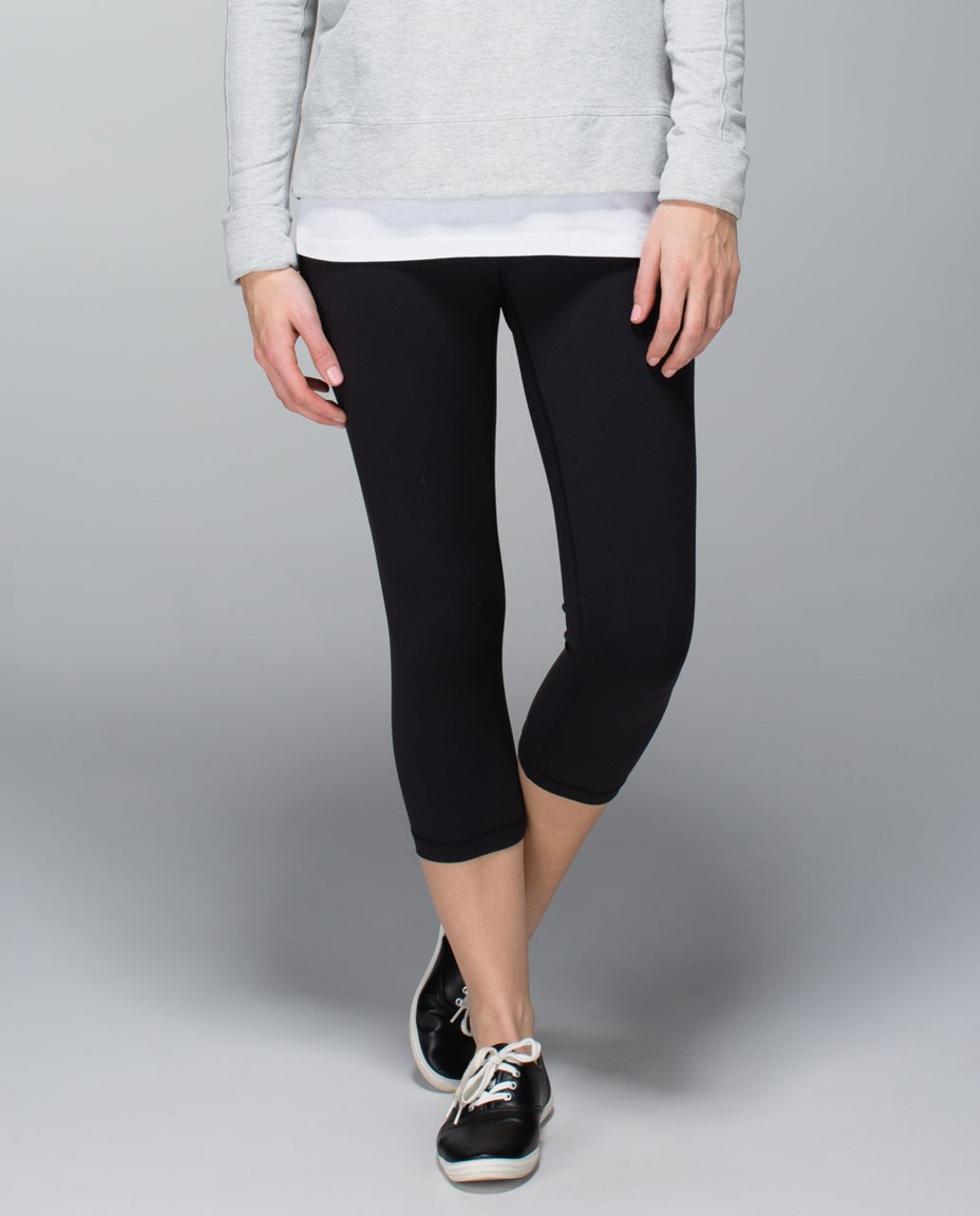 Lululemon Wunder Under Crop *Full-On Luxtreme - Black