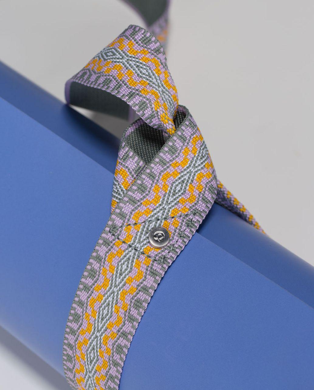 Lululemon Loop It Up Mat Strap - Earl Grey / Pretty Purple / White / Bananarama