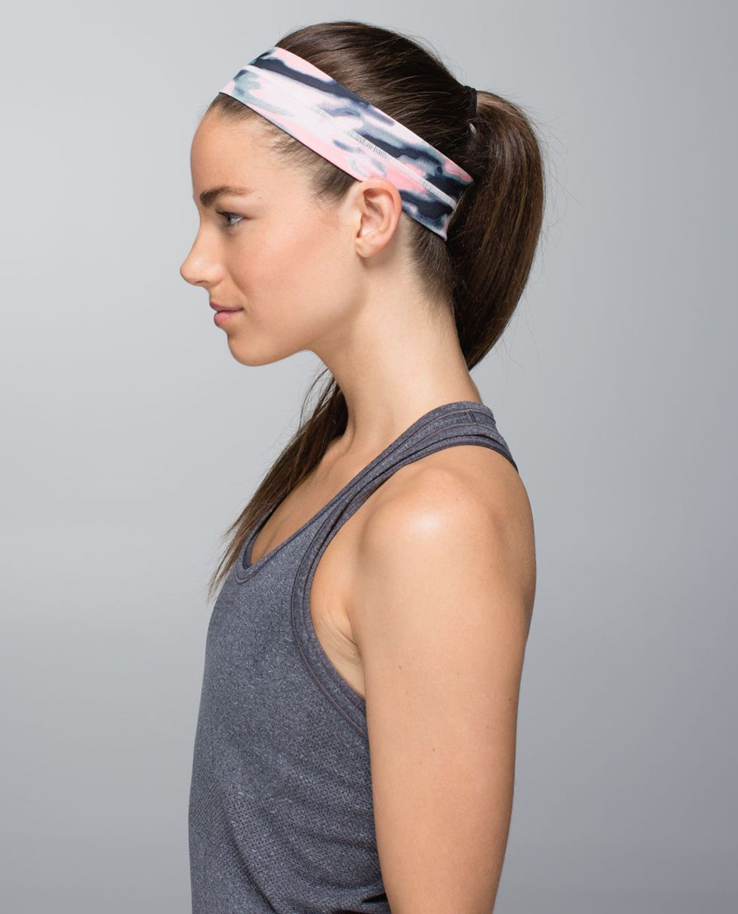 Lululemon Fly Away Tamer Headband - Wamo Camo Barely Pink